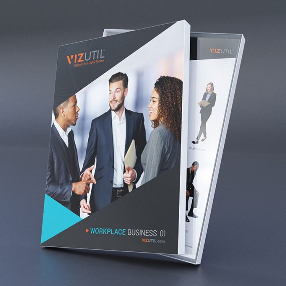 Business high-quality, culturally diverse 2D Cut-outs