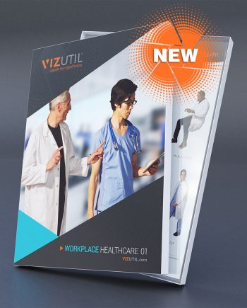 Healthcare high-quality, culturally diverse 2D cut-outs for archviz, architectural renderings, illustrations, and drawings | See our samples